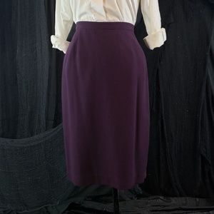 Lovely vintage deep purple maroon semi skirt